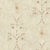 """Brewster Home Fashions Pompei Murecine 33' x 20.5"""" Floral and Botanical 3D Embossed Wallpaper"""