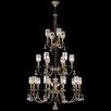Fine Art Lamps Eaton Place 20-Light Shaded Chandelier
