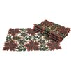 Xia Home Fashions Dainty Leaf Embroidered Cutwork Harvest Placemat (Set of 4)