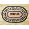 Earth Rugs Pinecone Welcome Printed Area Rug