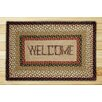 Earth Rugs Welcome Rectangle Tan Patch Area Rug