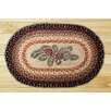 Earth Rugs Pinecone Red Berry Printed Area Rug