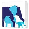 Avalisa Animals Elephants Graphic Art on Canvas