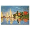 Buyenlarge Regatta at Argenteuil by Claude Monet Painting Print on Wrapped Canvas