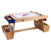 KidKraft Drying Rack and Storage Kids Arts and Crafts Table