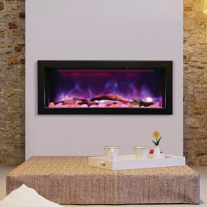 Panorama Series Built In Wall Mount Electric Fireplace  Built In Electric Fireplace