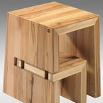 Hailo Usa Inc 2 Step Wood Quot U Quot Step Stool With 330 Lb
