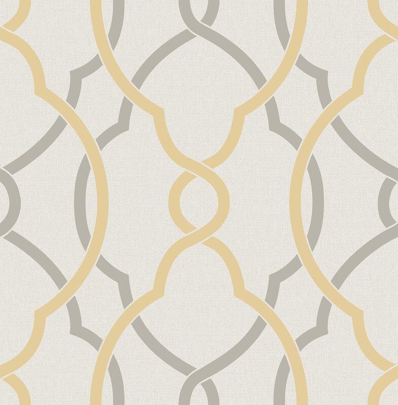 """brewster home fashions sausalito 33' x 20.5"""" lattice wallpaper"""