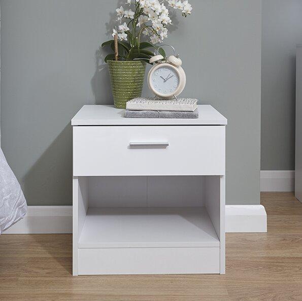 Varick Gallery Ehmann 1 Drawer Bedside Table Amp Reviews