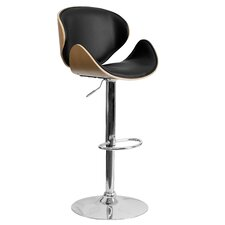Ascot Curved Adjustable Height Swivel Bar Stool