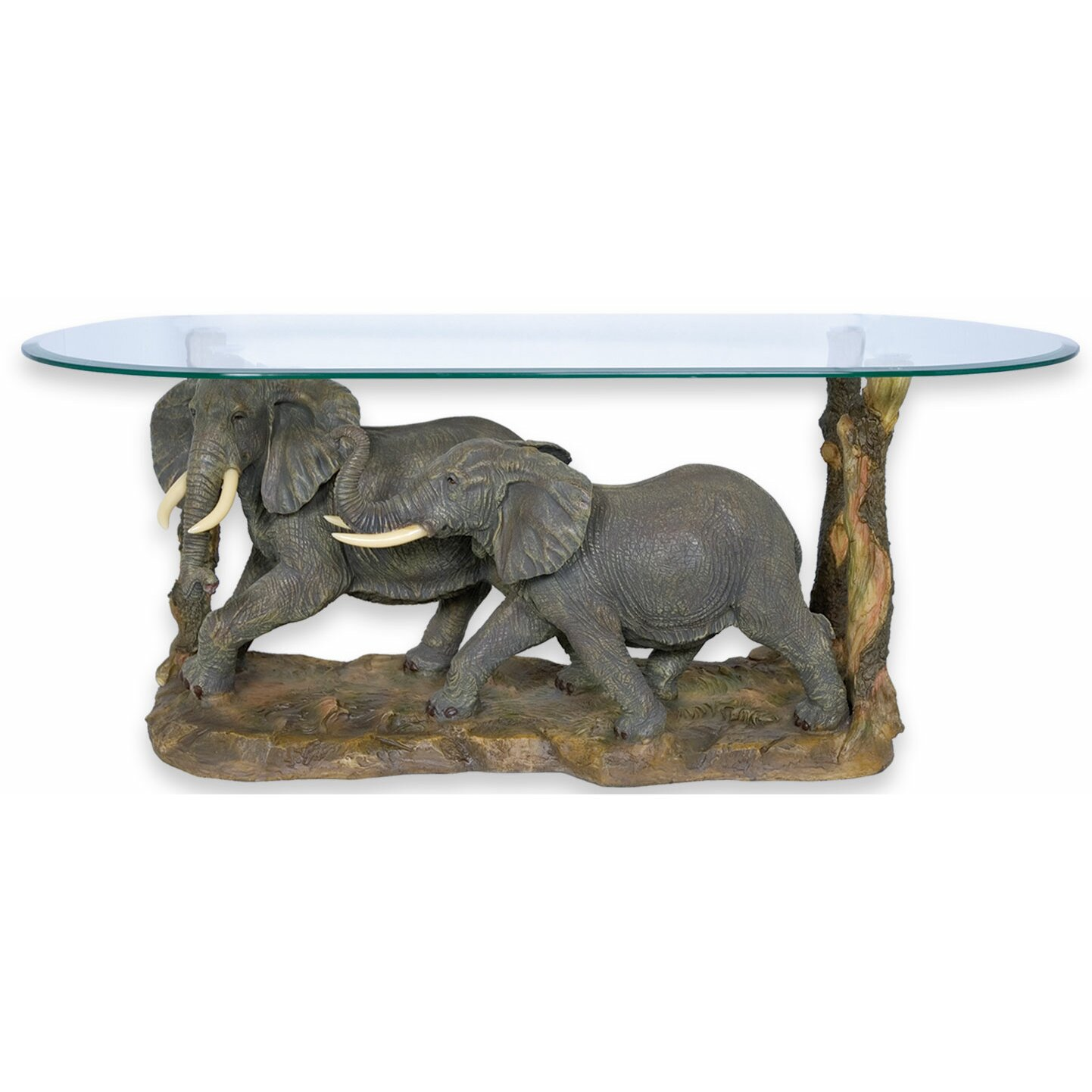 Rayes imports elephant walking coffee table Elephant coffee table