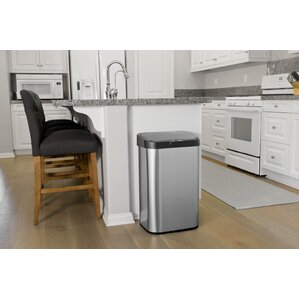Decorative Kitchen Trash Cans Motion Sensor Can Throughout Inspiration Decorating