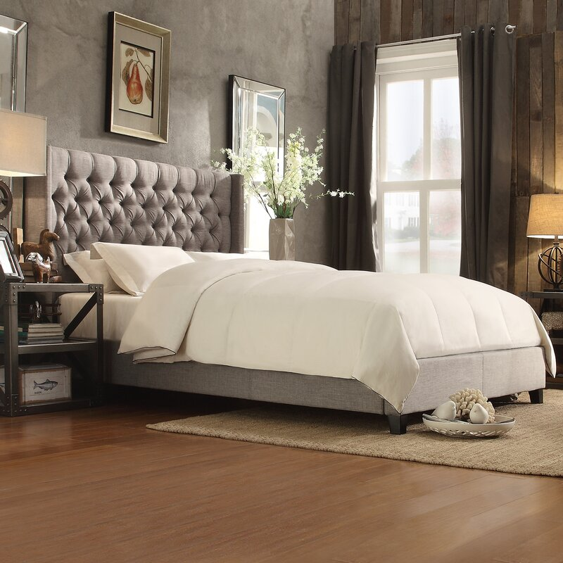 declare upholstered panel bed - Wingback Bed Frame