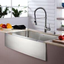 Kitchen Combos 33 X 21 Single Basin Farmhouse Apron Kitchen Sink With Faucet