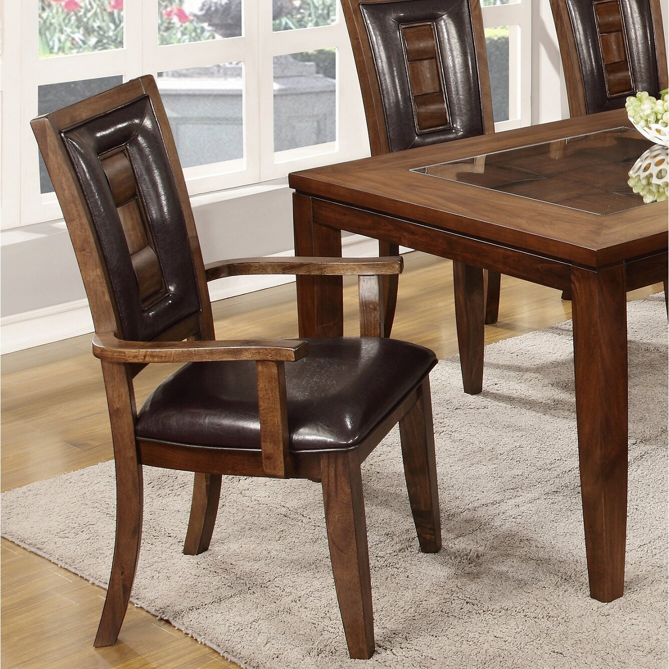 Roundhill Furniture Calais 7 Piece Dining Set