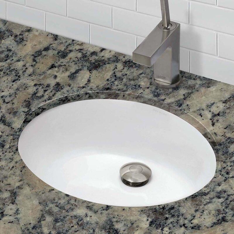 decolav classic oval undermount bathroom sink with
