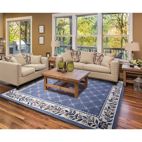charlton home modena geometric country blue area rug & reviews