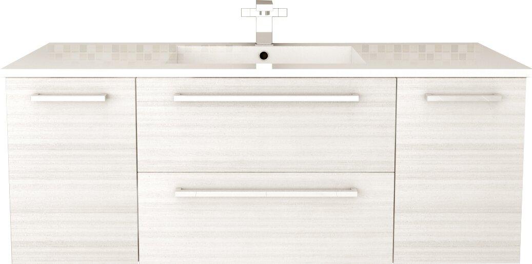"Cutler Kitchen & Bath Silhouette 48"" Single Bathroom Floating Vanity Set & Reviews"