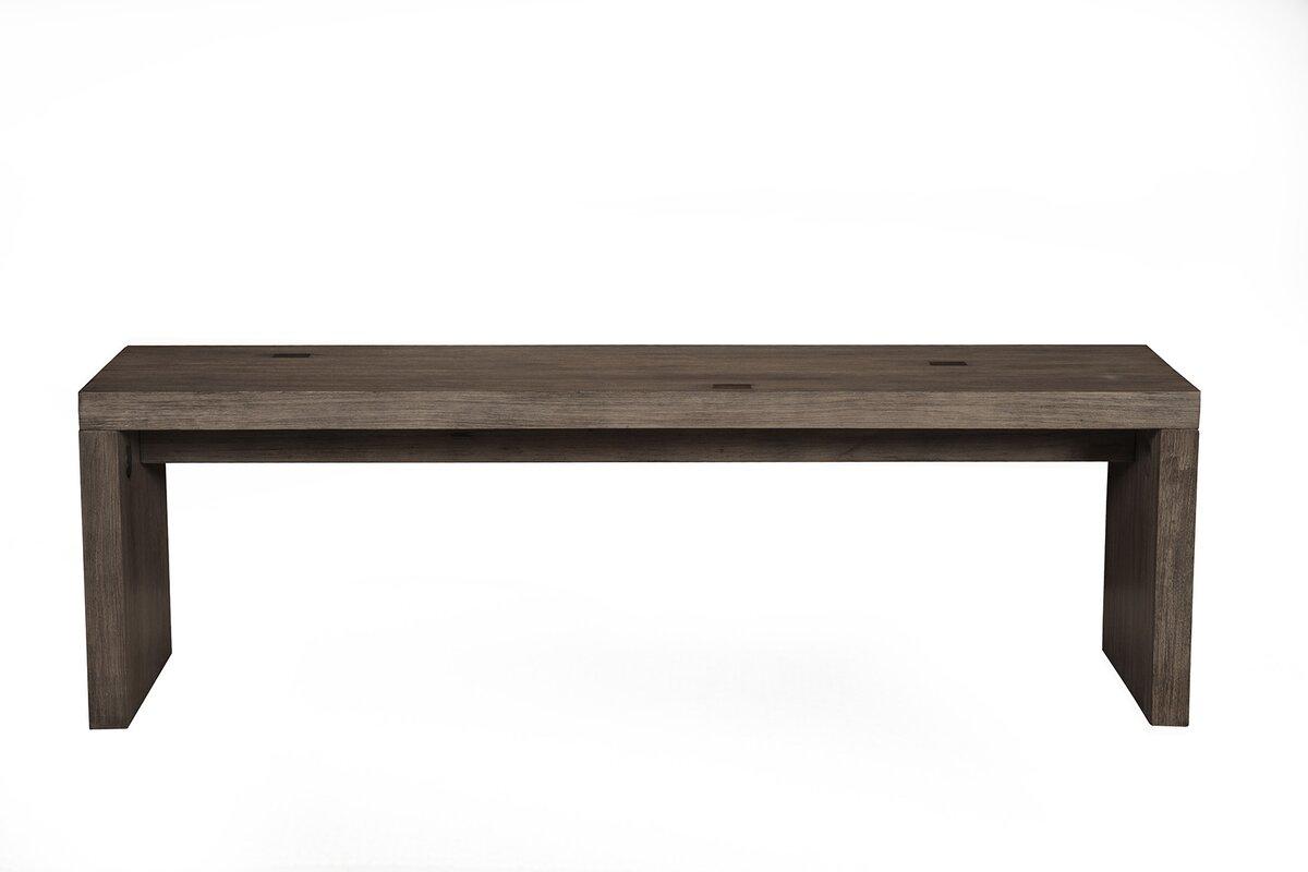 modern dining  kitchen benches  allmodern - evanston wood dining bench