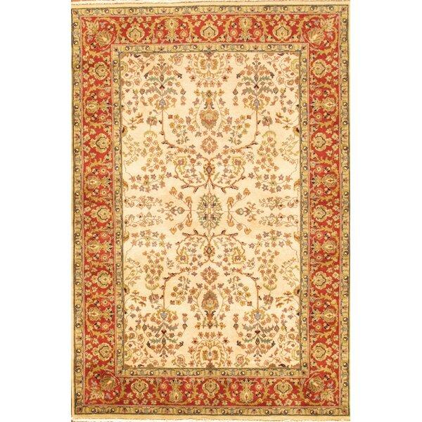 Pasargad Sarouk Rust/Cream Traditional Persian Style Wool Area Rug | Wayfair