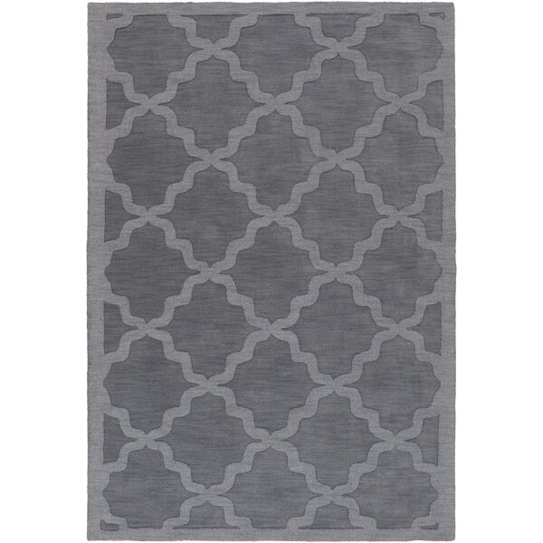 Charlton Home Blankenship Charcoal Geometric Abbey Area Rug U0026 Reviews |  Wayfair