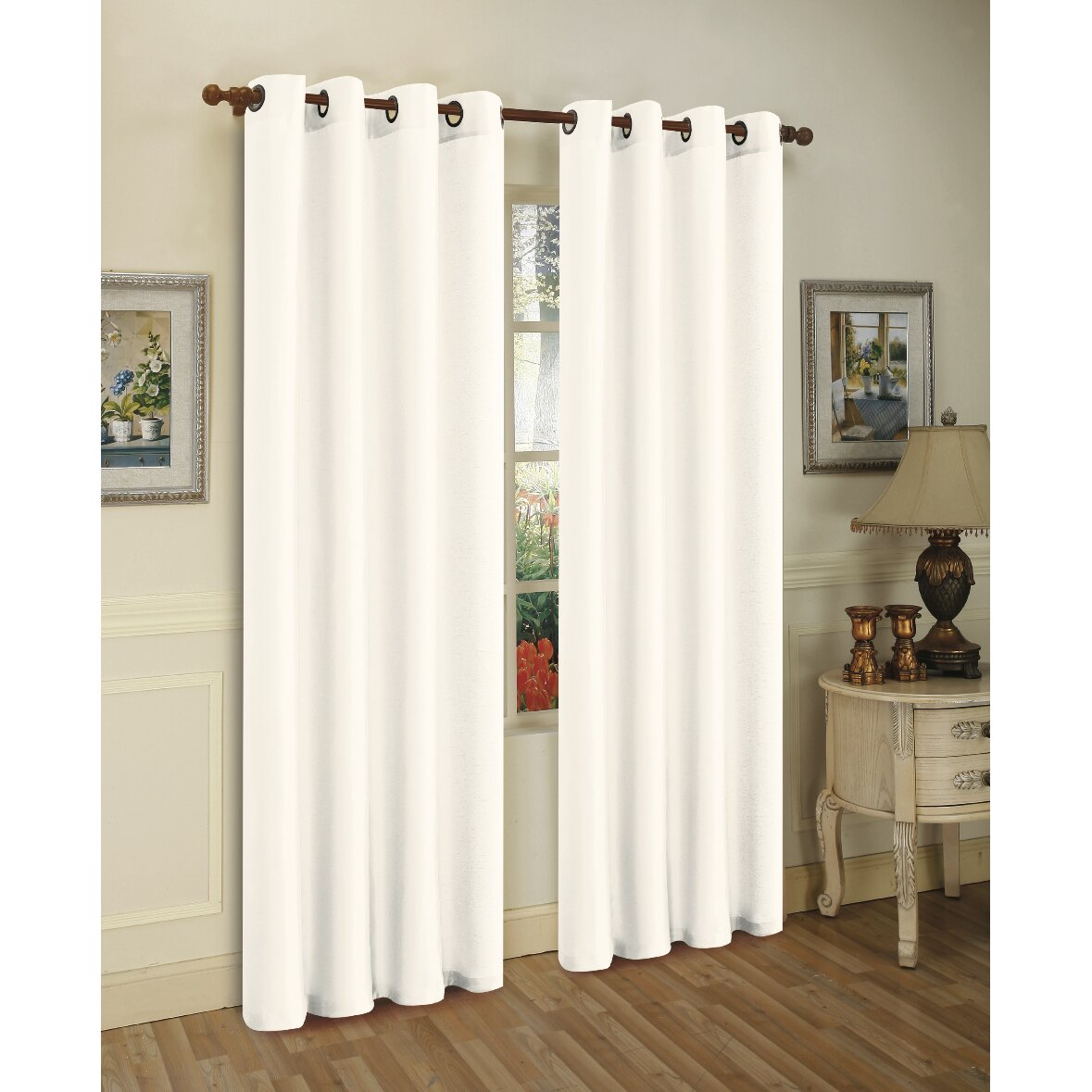 Sheer outdoor curtains - Solid Semi Sheer Outdoor Grommet Curtain Panels