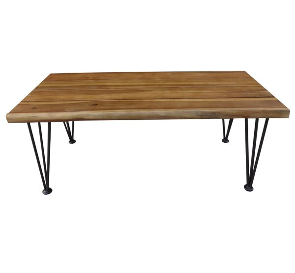 union rustic frye outdoor wood 3 piece coffee table set   wayfair