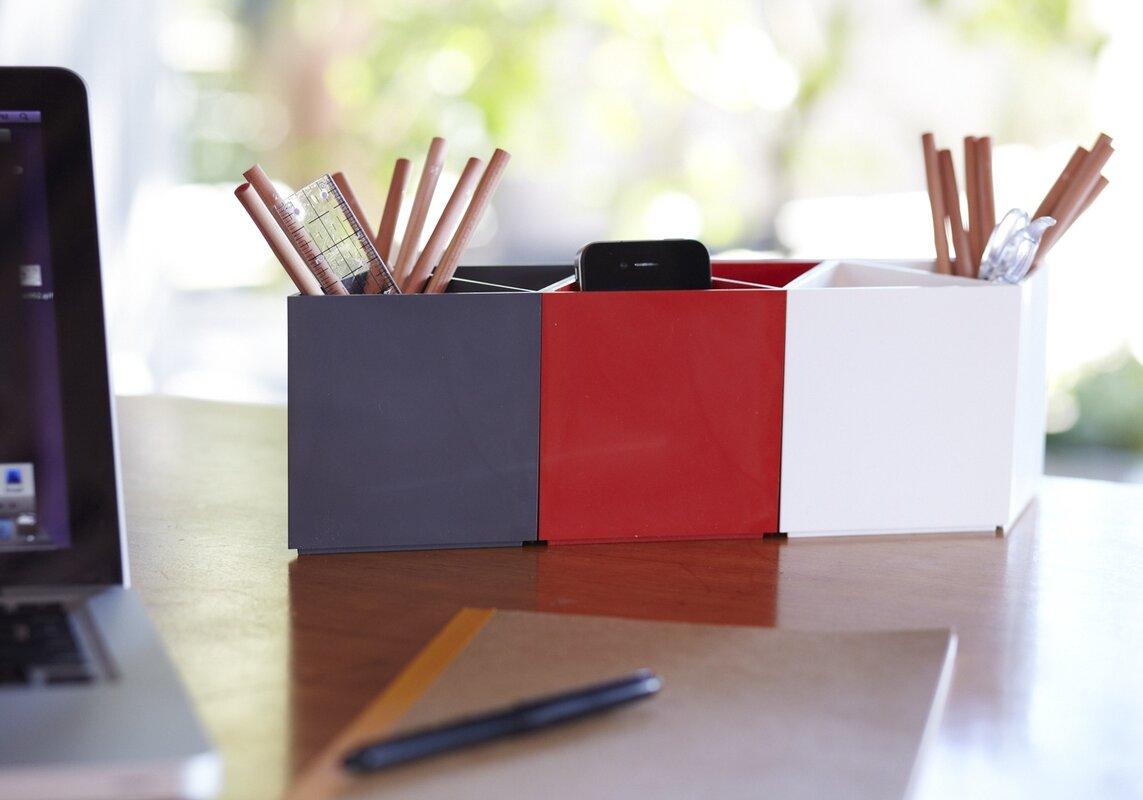 Desk Organizer Amac Rhombin Assorted Desktop Organizer Reviews Wayfair