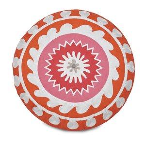 Multi Patch Round Decorative Cotton Throw Pillow