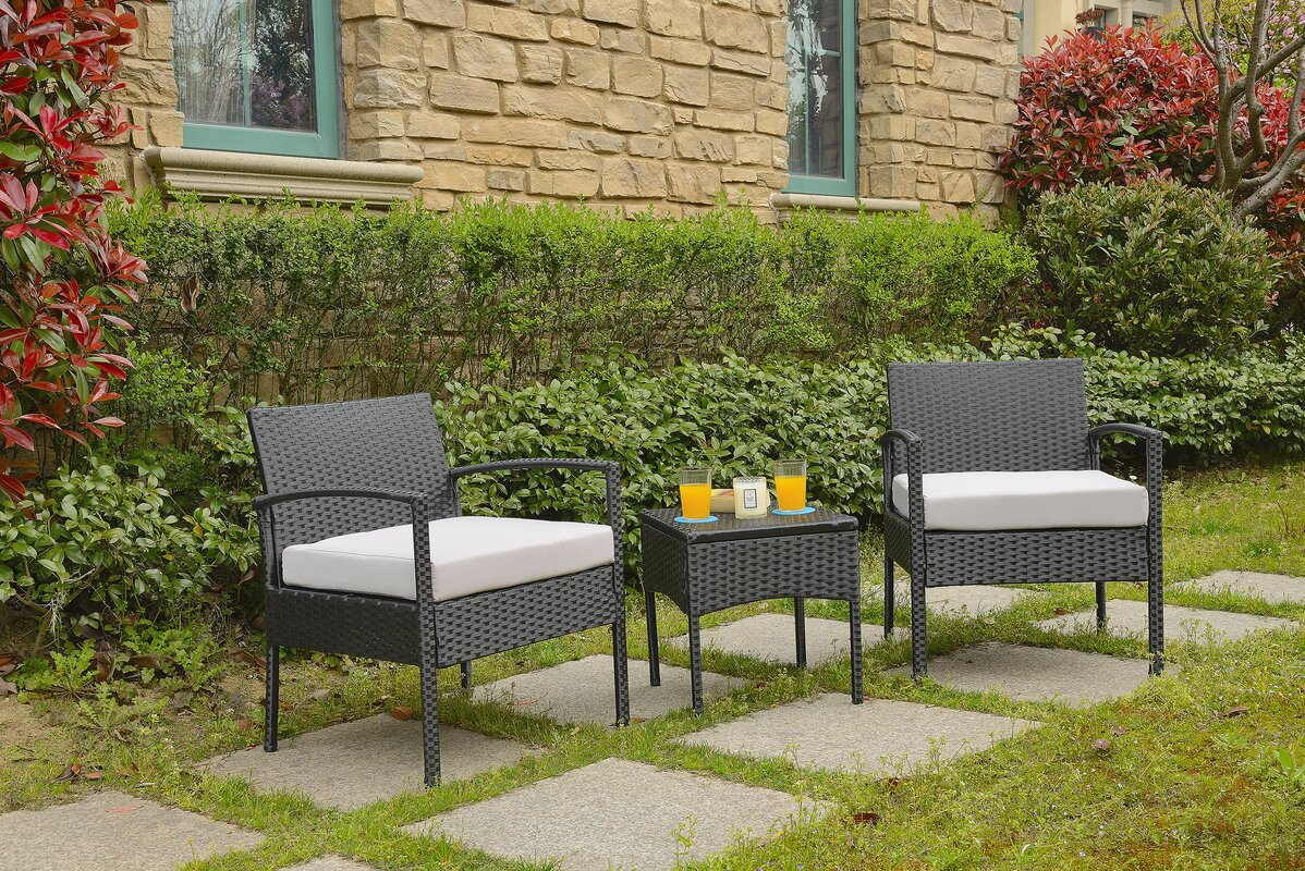 Varick Gallery Giancarlo 3 Piece Lounge Seating Group With