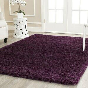 Marvelous Malina Shag Purple Area Rug