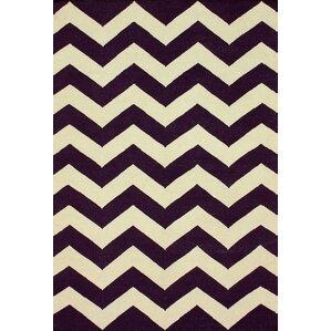 Wonderful Moderna Purple Chevron Area Rug