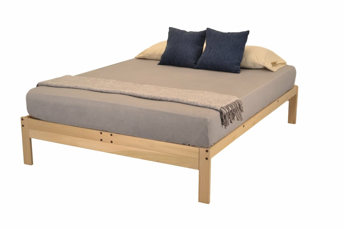 full  double platform beds you'll love  wayfair - nomad plus platform bed