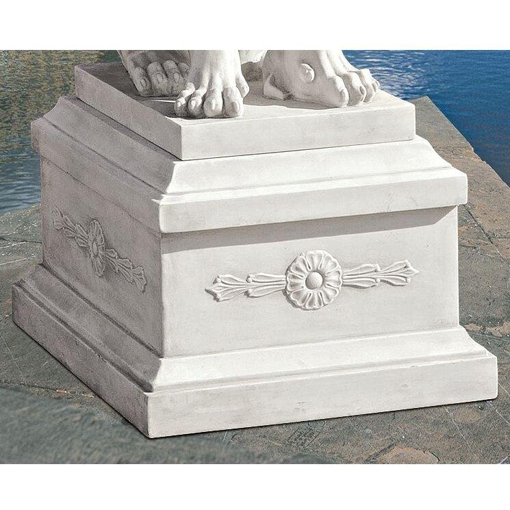 design toscano lion of florence sentinel base statue reviews wayfair. Black Bedroom Furniture Sets. Home Design Ideas