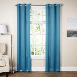 Attractive Wayfair Basics Solid Room Darkening Grommet Single Curtain Panel