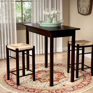 Perfect Tenney 3 Piece Counter Height Dining Set
