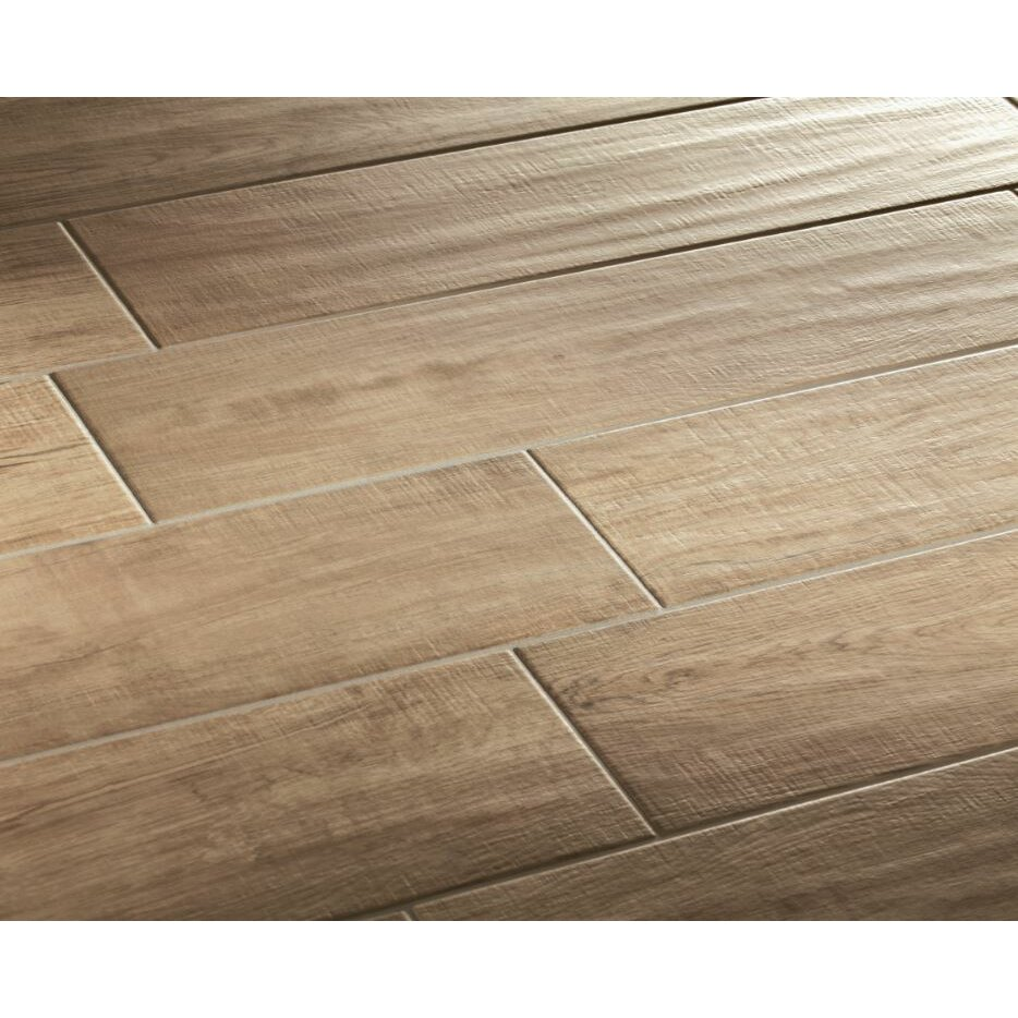 "Lea Ceramiche Vivaldi 6"" x 24"" Porcelain Wood Tile in"