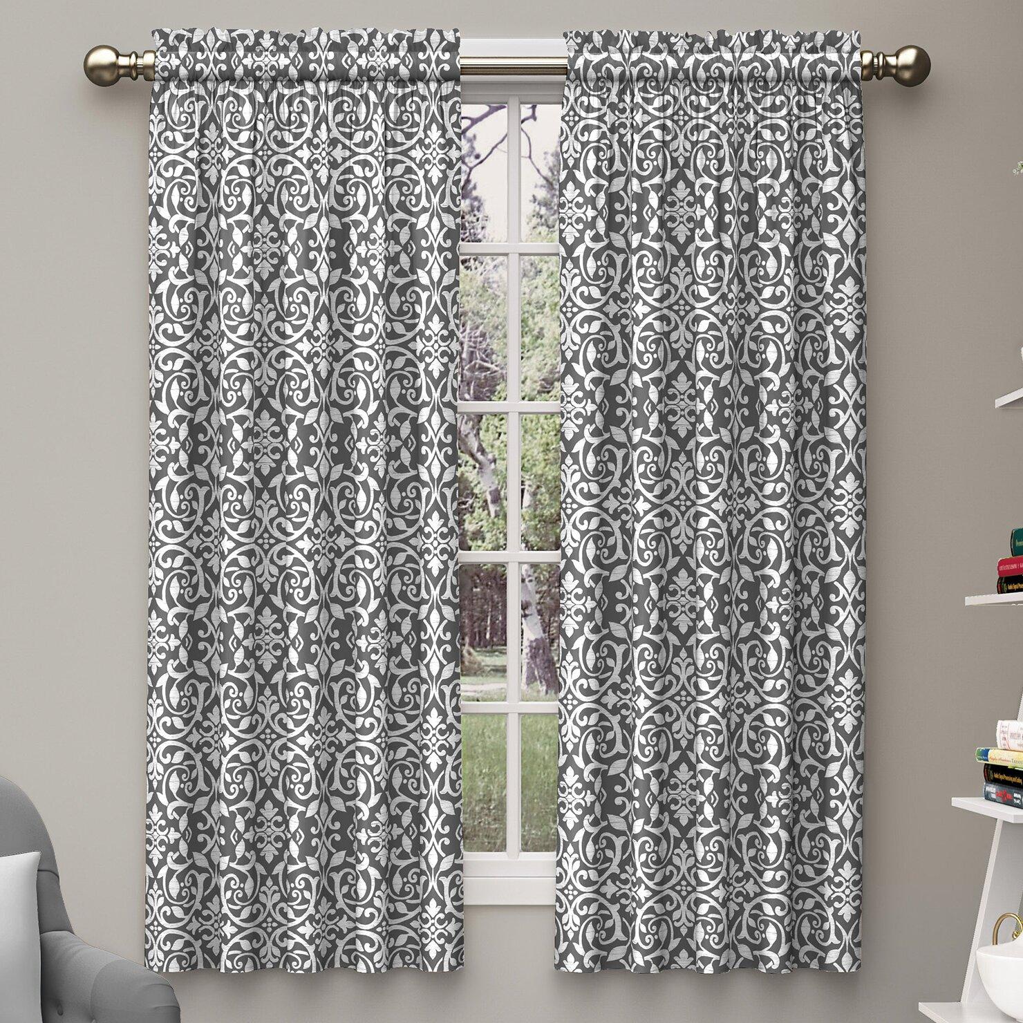 Hidden Tab Curtains Hidden Tab Top Blackout Curtains Best Curtain 2017