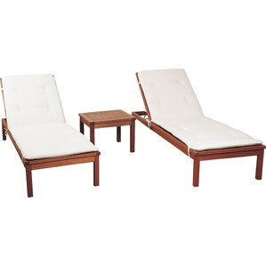 3 Piece Austin Chaise Lounge Set