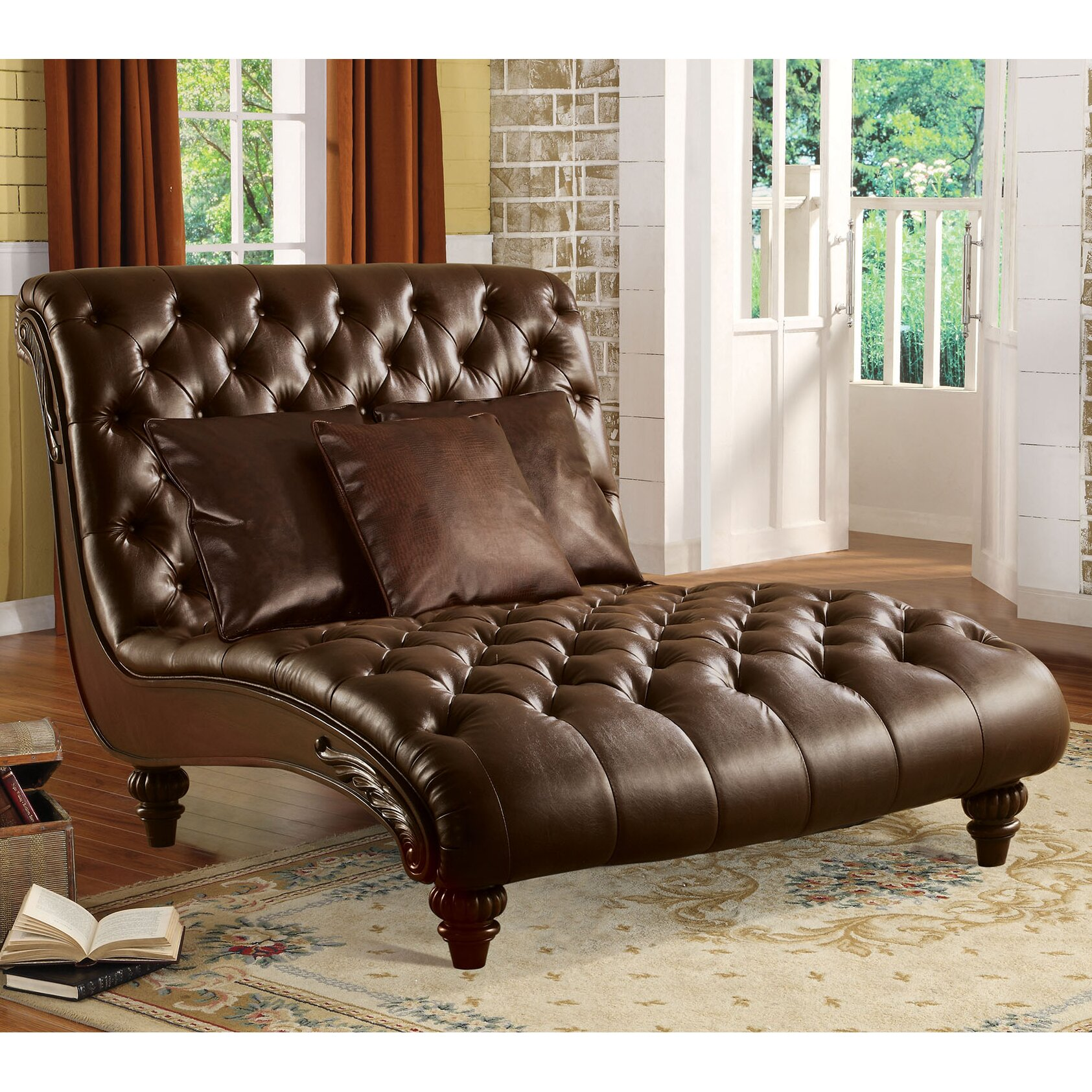 A Amp J Homes Studio Anondale Chaise Lounge Amp Reviews Wayfair Ca