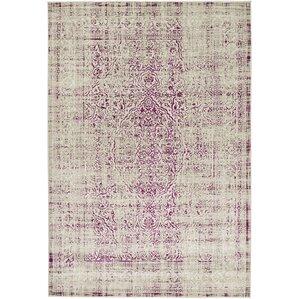 Superior Anil Light Gray/Purple Area Rug