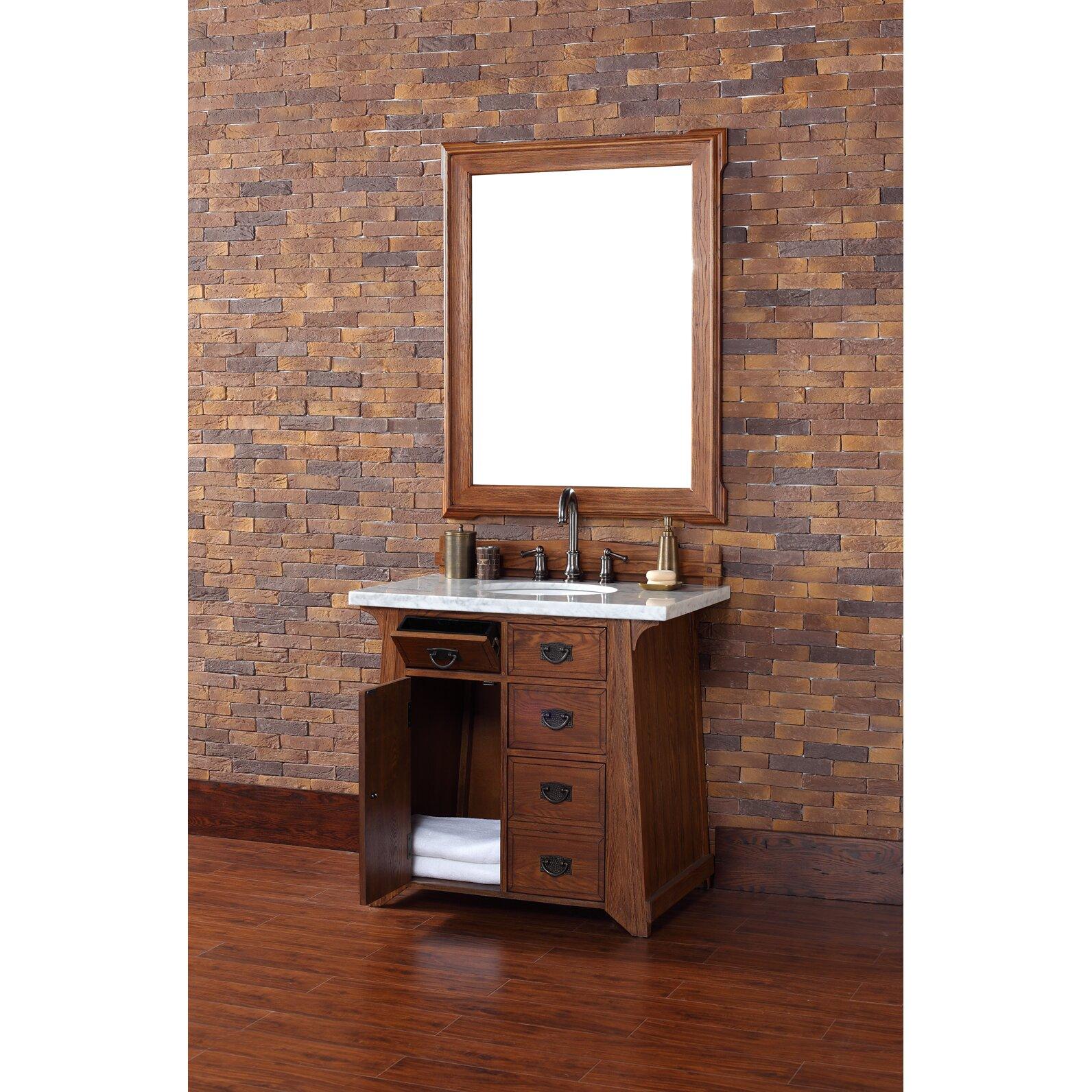 """Vintage Bathroom Vanity Set: James Martin Furniture Pasadena 36"""" Single Antique Oak"""