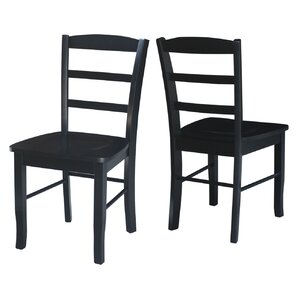 Brianne Ladderback Solid Wood Dining Chair (Set Of 2)
