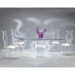 Plastic  Acrylic Kitchen  Dining Tables Youll Love Wayfair - Acrylic dining table