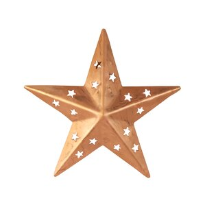 Star Wall Décor With Cutouts (Set Of 4)