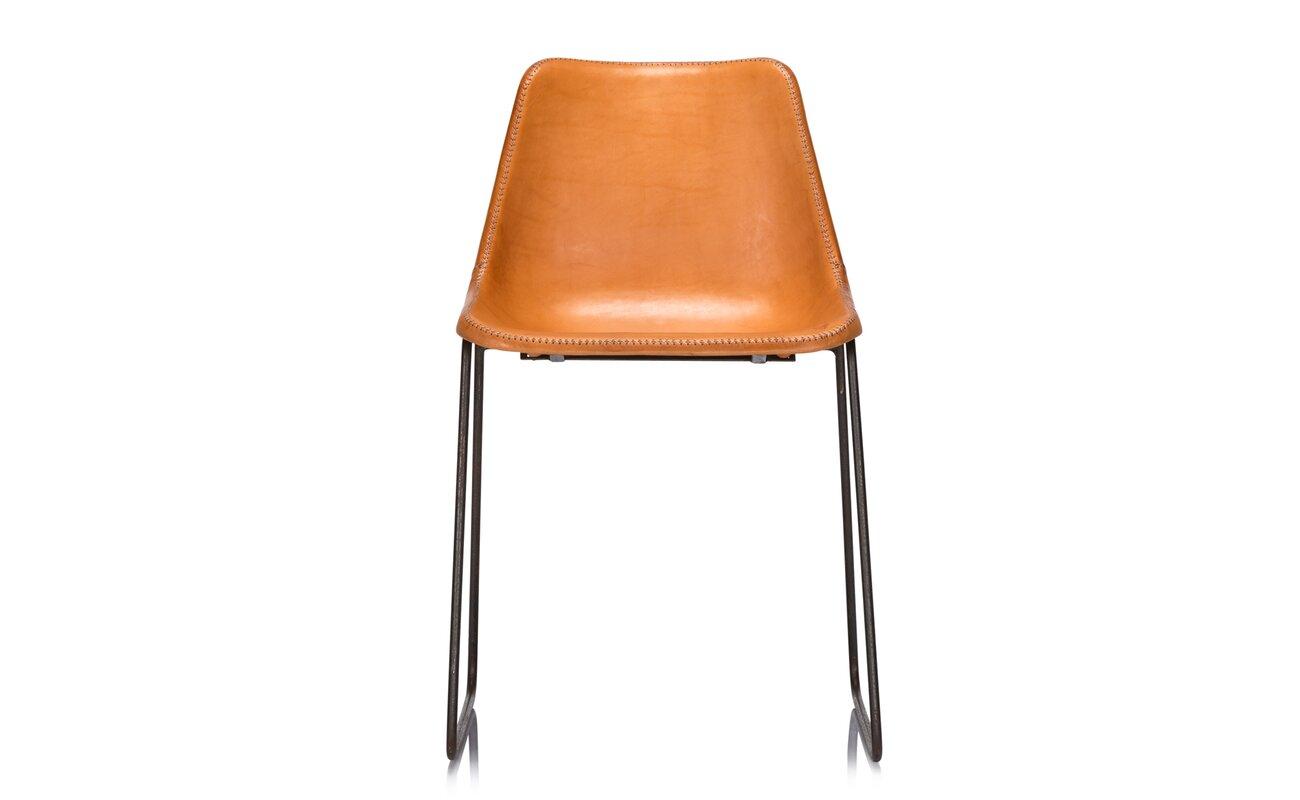 modern genuine leather dining chairs  allmodern - gautier genuine leather upholstered dining chair