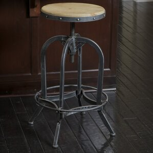 kevin adjustable height swivel bar stool