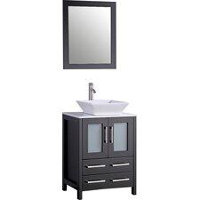 "Leyla 24"" Single Bathroom Vanity Set with Mirror"