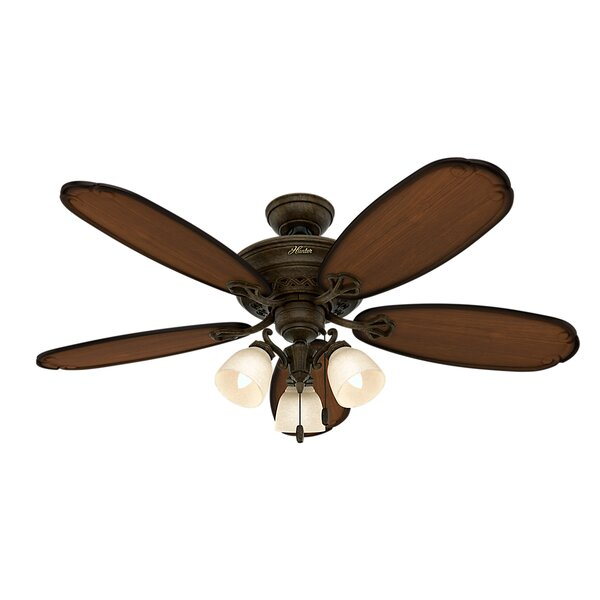 """Hunter Fan 54"""" Crown Park 5-Blade Ceiling Fan & Reviews"""