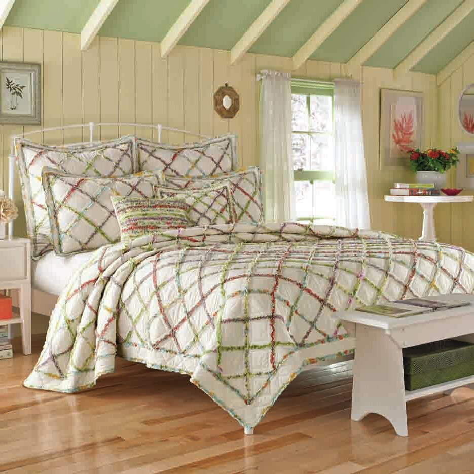 laura ashley home ruffled garden quilt collection. Black Bedroom Furniture Sets. Home Design Ideas